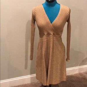 Gold I.N.C Medium shimmery fitted dress
